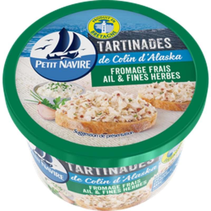 Tartinade de Colin d'Alaska au fromage frais ail et fines herbes, Petit Navire (125 g)