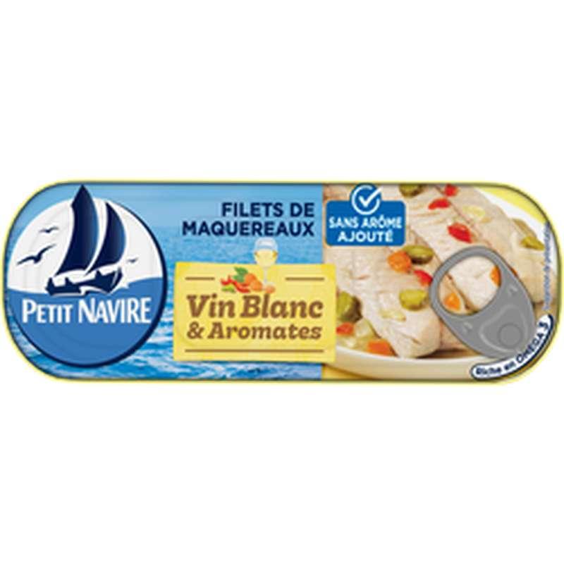 Filets de maquereaux vin blanc et aromates sans arômes ajoutés, Petit Navire (175 g)