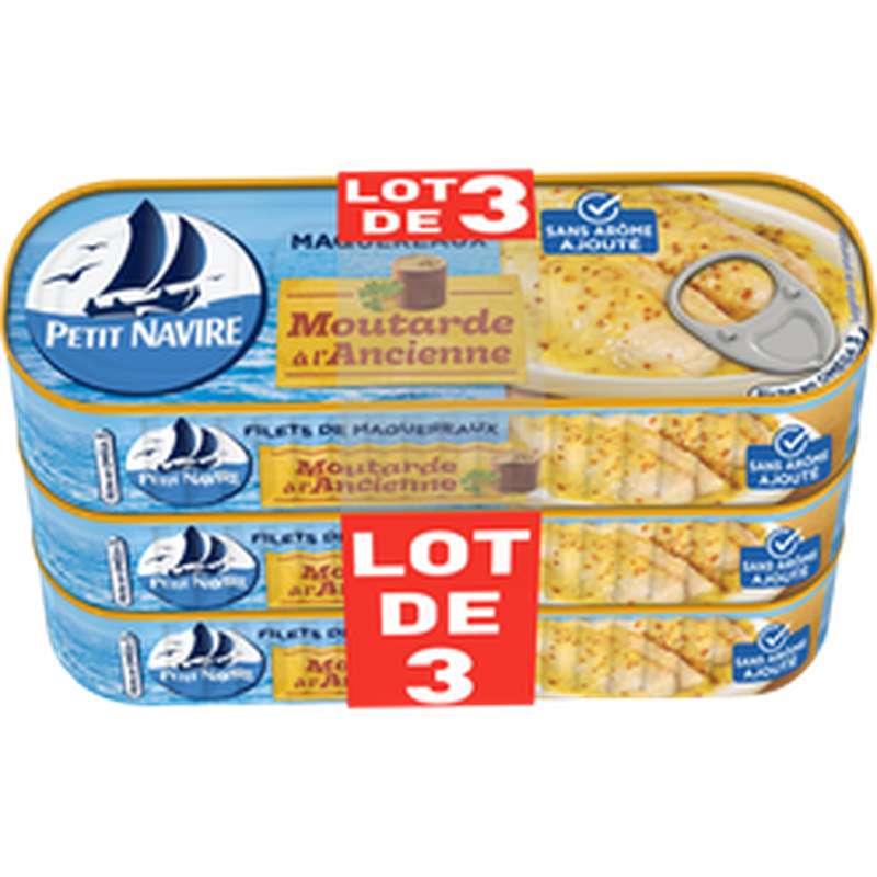 Maquereaux à la moutarde sans arôme ajouté, Petit Navire (3 x 169 g)