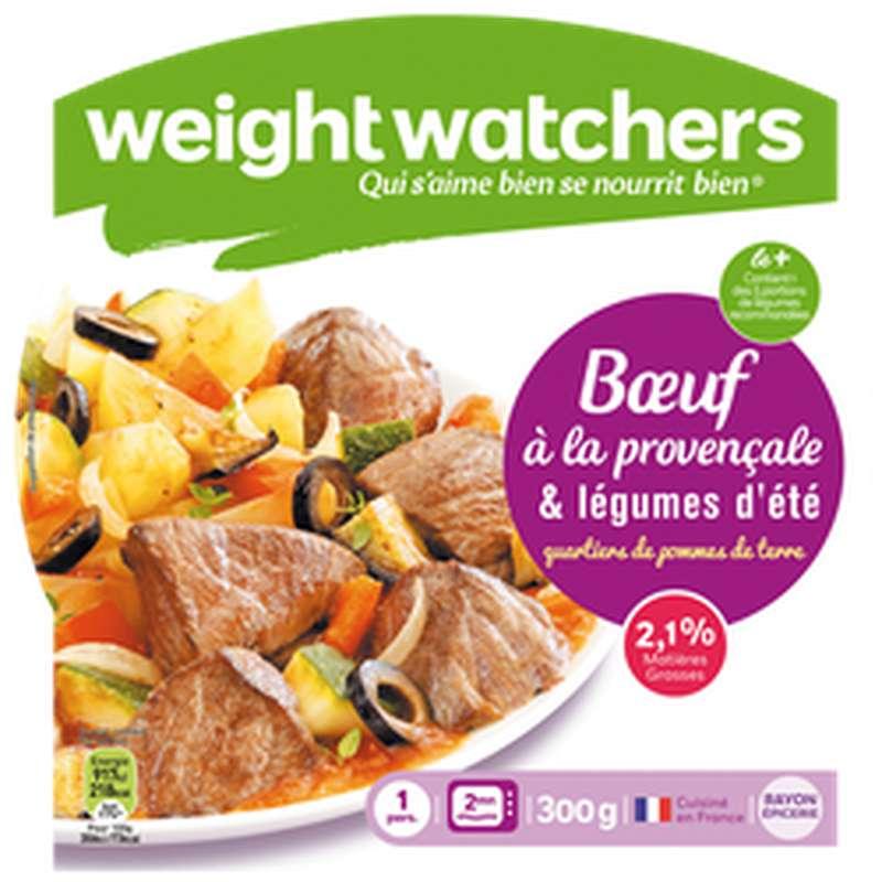 Boeuf provençal, confit de légumes d'été et pommes de terre, Weight Watchers (300 g)