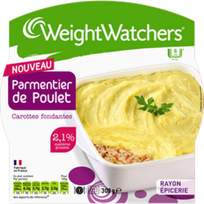 Parmentier de poulet carottes et oignons, Weight Watchers (300 g)