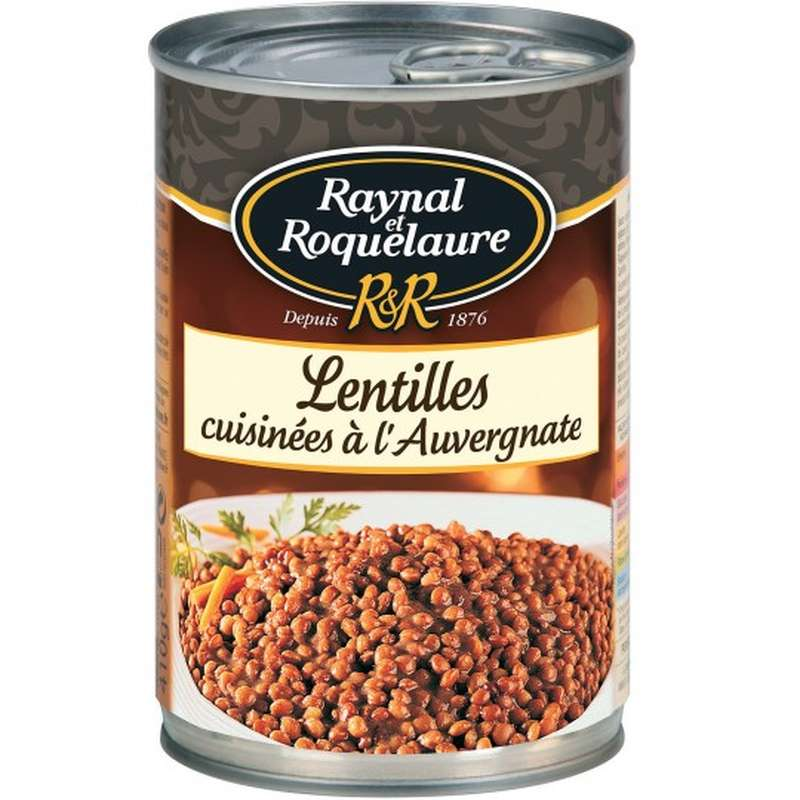 Lentilles cuisinées à l'auvergnate, Raynal et Roquelaure (410 g)