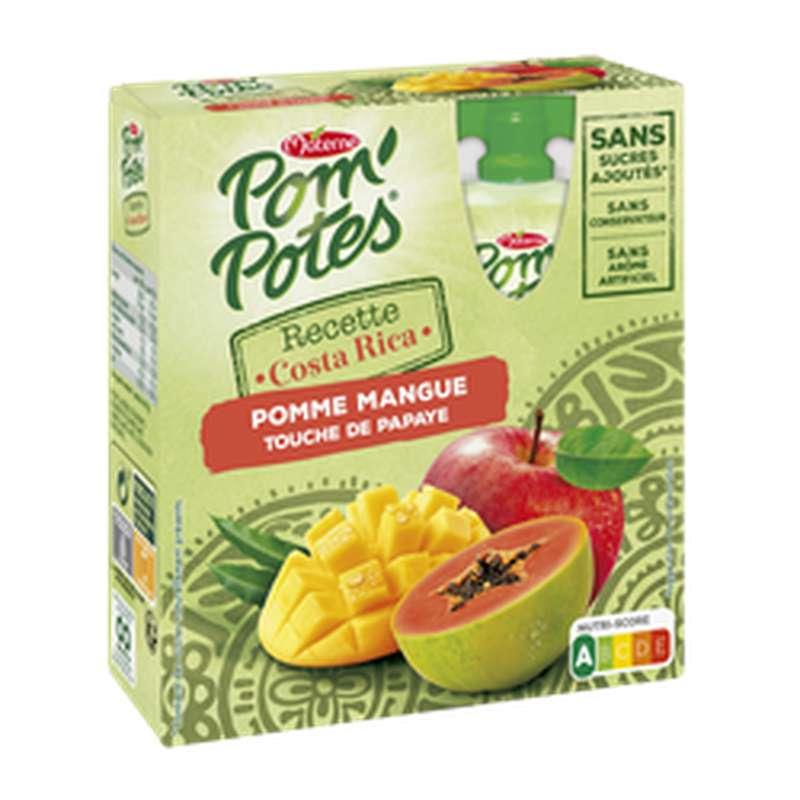 Pom'potes Pomme, Mangue et touche de Papaye, Materne (4 x 90 g)