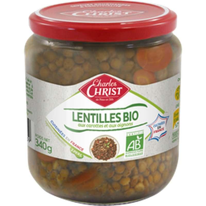 Lentilles cuisinées BIO, Charles Christ (340 g)