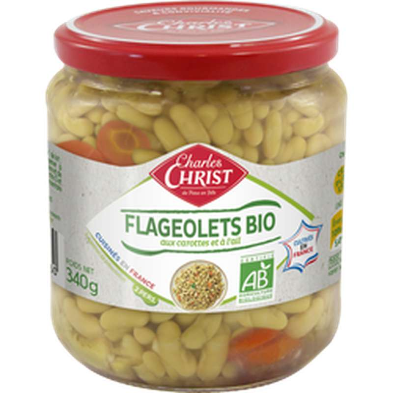 Flageolets cuisinés BIO, Charles Christ (340 g)