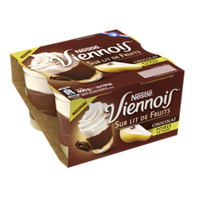 Le Viennois au chocolat sur lit de poire, Nestlé (4 x 100 g)