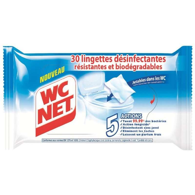 Lingettes désinfectantes, WC net (x 30)