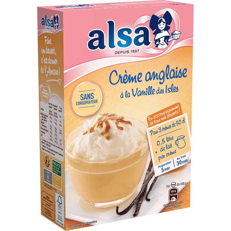 Préparation dessert crème anglaise vanille, Alsa (300 g)