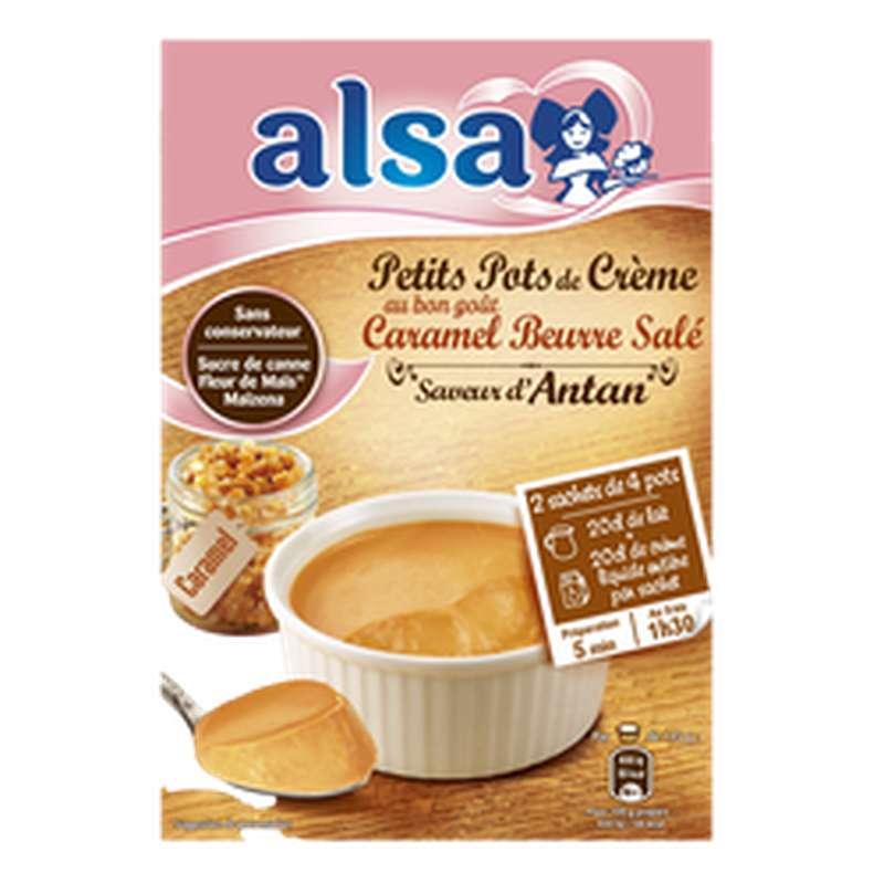Préparation pour petits pots de crème dessert caramel beurre salé, Alsa (120 g)