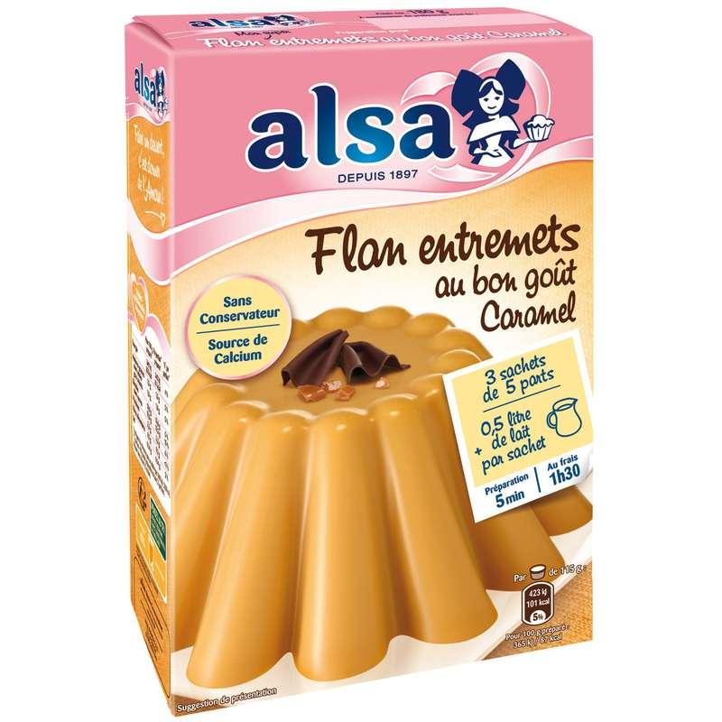 Préparation flan entremets au bon goût de caramel, Alsa (180 g)