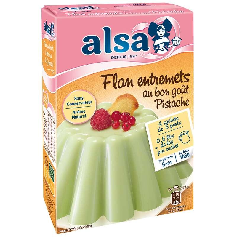 Préparation flan entremets pistache, Alsa (180 g)