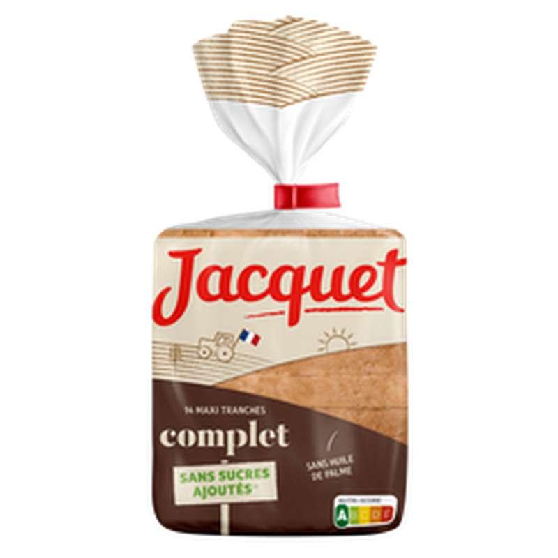 Pain de mie complet maxi tranches sans sucre ajouté, Jacquet (550 g)