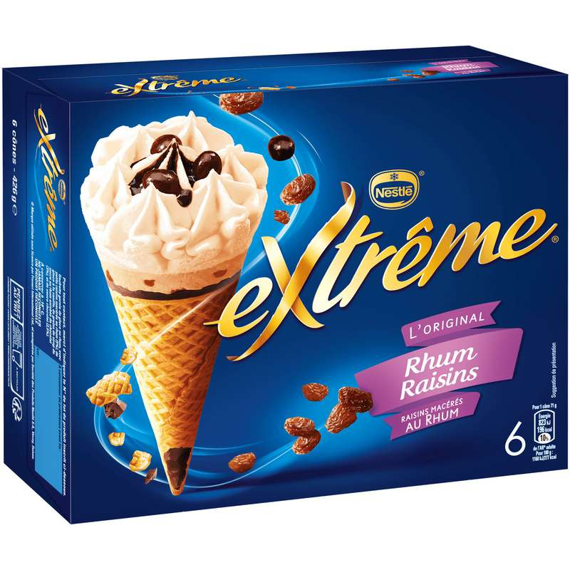 Cônes Rhum et raisins, Extreme (x 6)