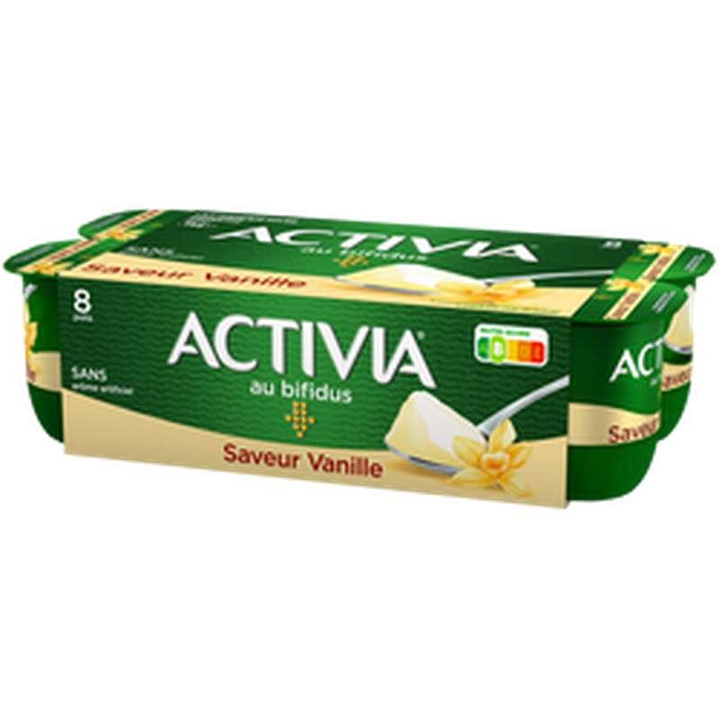Yaourt au bifidus saveur Vanille, Activia (8 x 125 g)