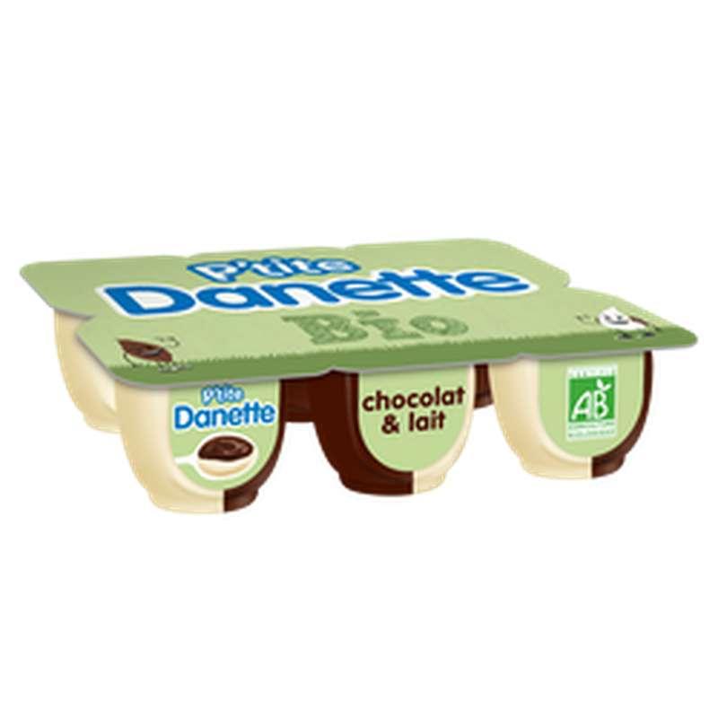 P'tite Danette au chocolat et au lait BIO (6 x 65 g)