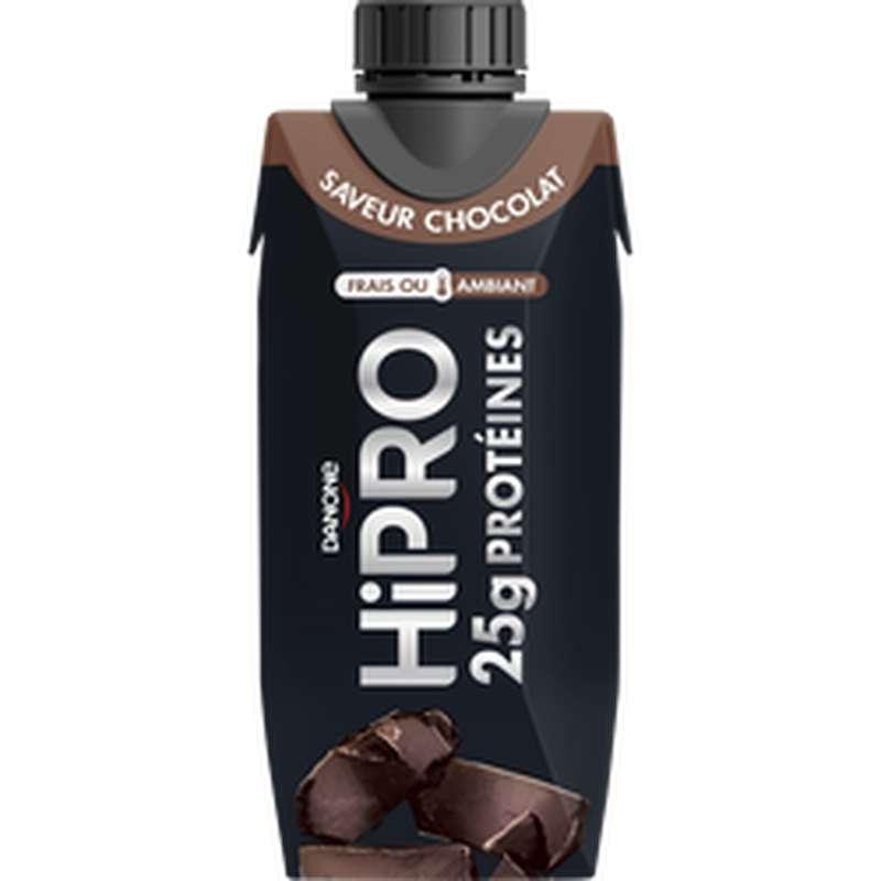 Spécialité laitière à boire protéinée saveur chocolat, Hipro (345 g)
