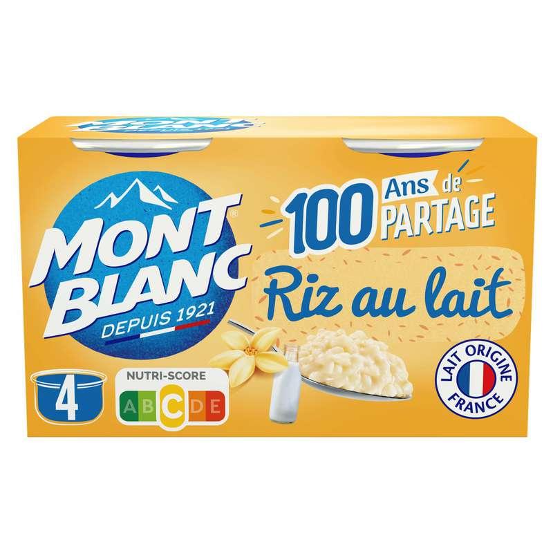 Desserts riz au lait, Mont blanc (4 x 125 g)