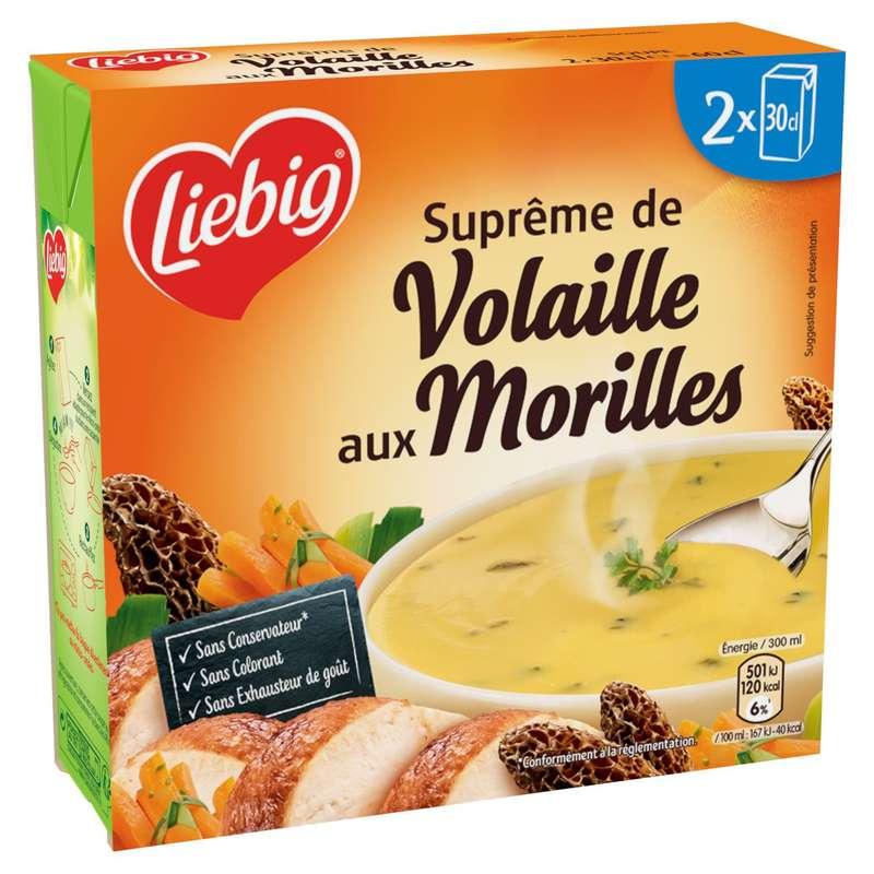 Soupe suprême de volaille aux morilles, Liebig (2 x 30 cl)