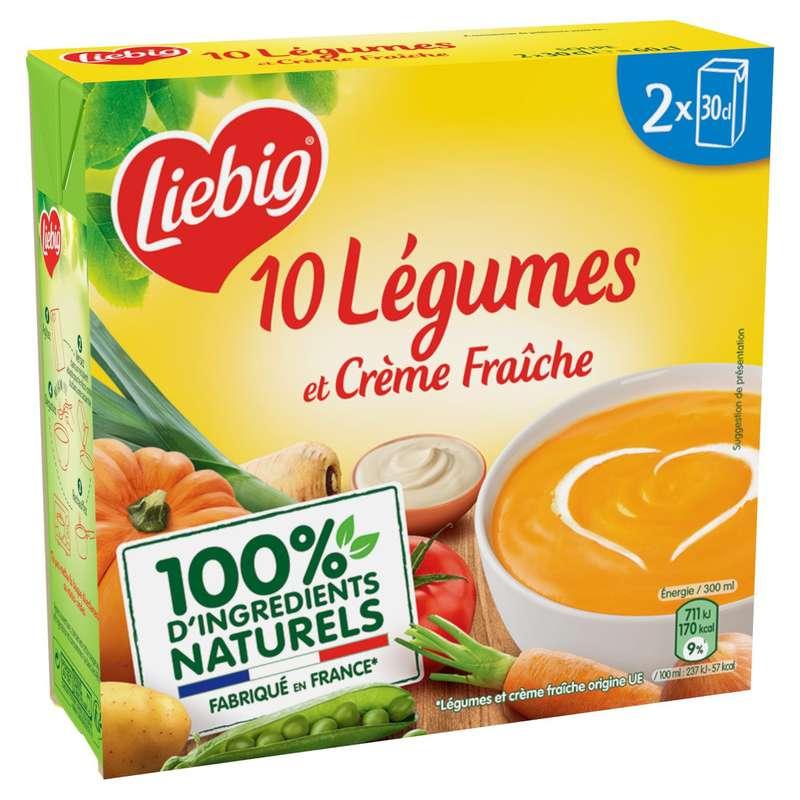 Soupe légumes & crème fraiche, Liebig (2 x 30 cl)