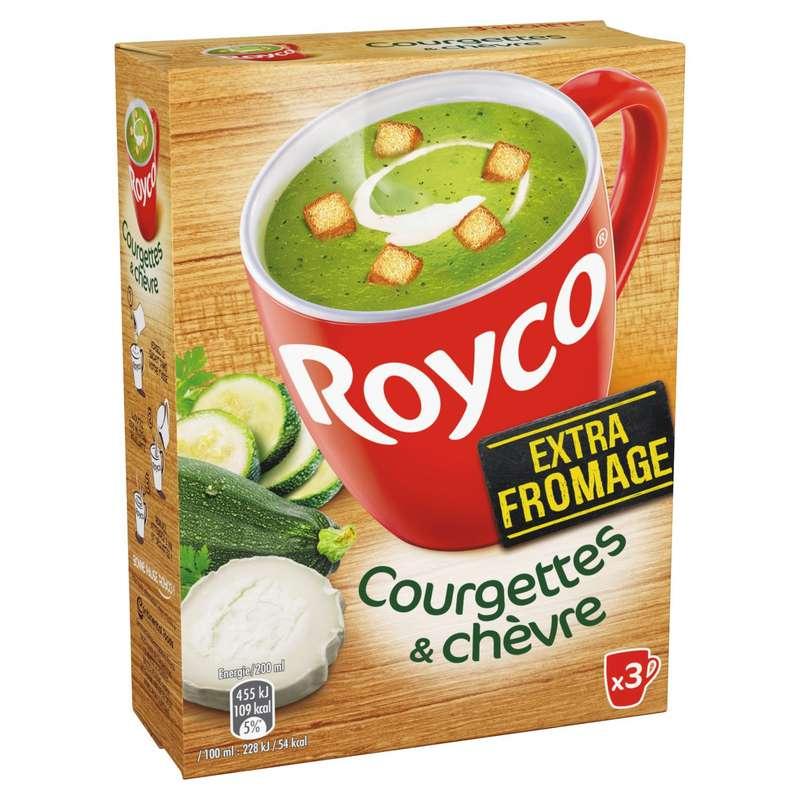Soupe déshydratée courgettes & chèvre, Royco (60 cl)