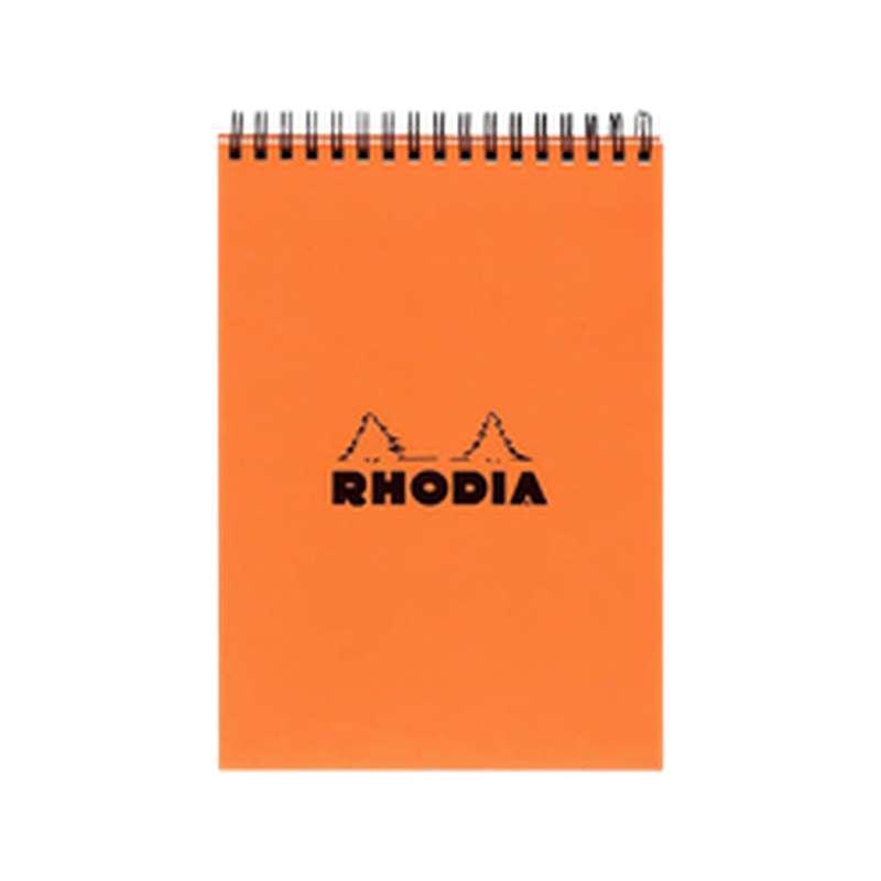 Bloc-notes petits carreaux reliure intégrale, Rhodia (format A5, 14,8 x 21 cm, 160 pages)
