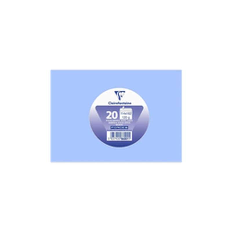 Enveloppes auto adhésives 114 x 162 mm bleu lavande, Clairefontaine (x 20)