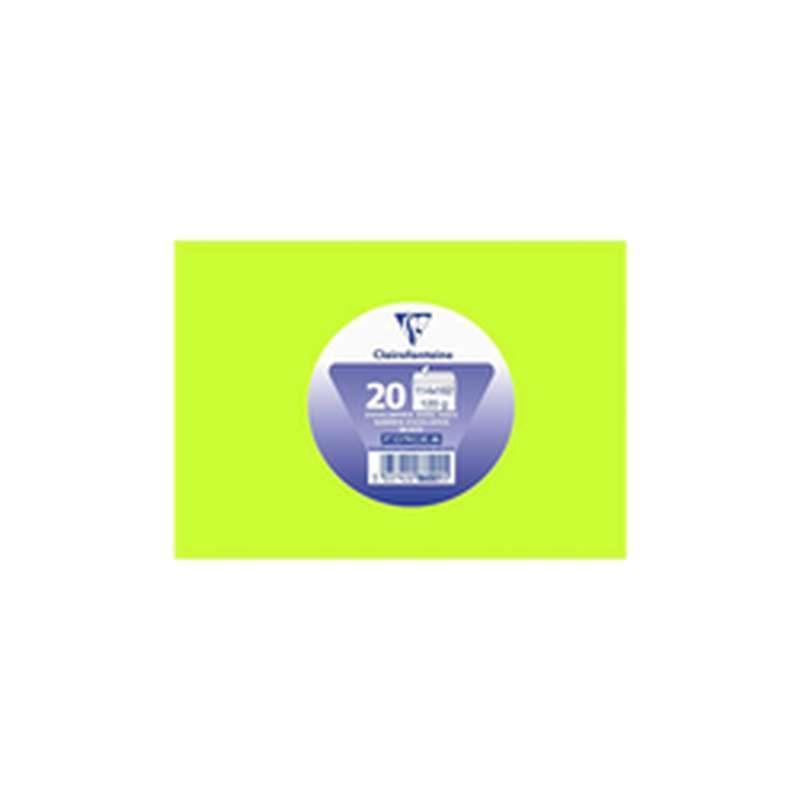 Enveloppes auto adhésives 114 x 162 mm vert bourgeon, Clairefontaine (x 20)