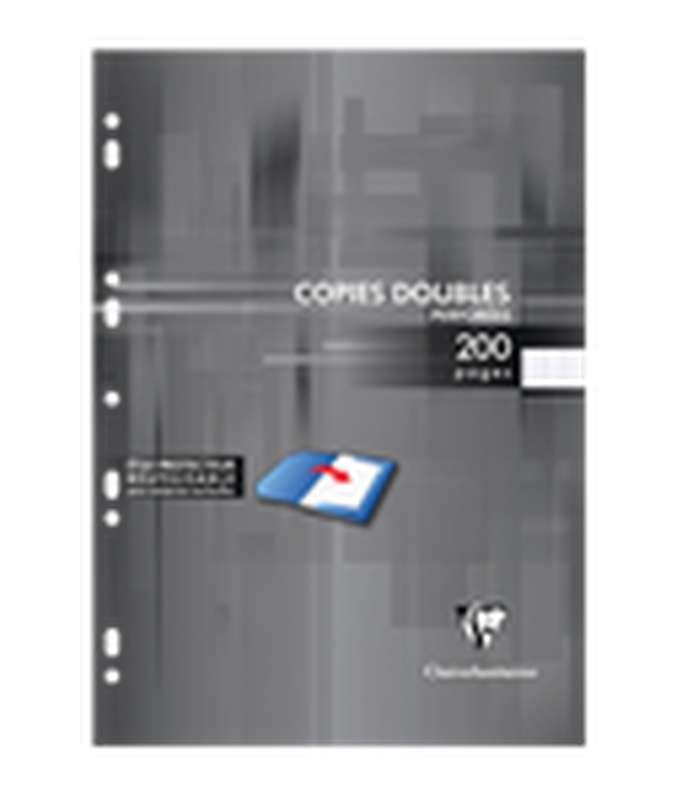 Feuilles doubles perforées grands carreaux, Clairefontaine (21 x 29,7 cm, x 200 pages)