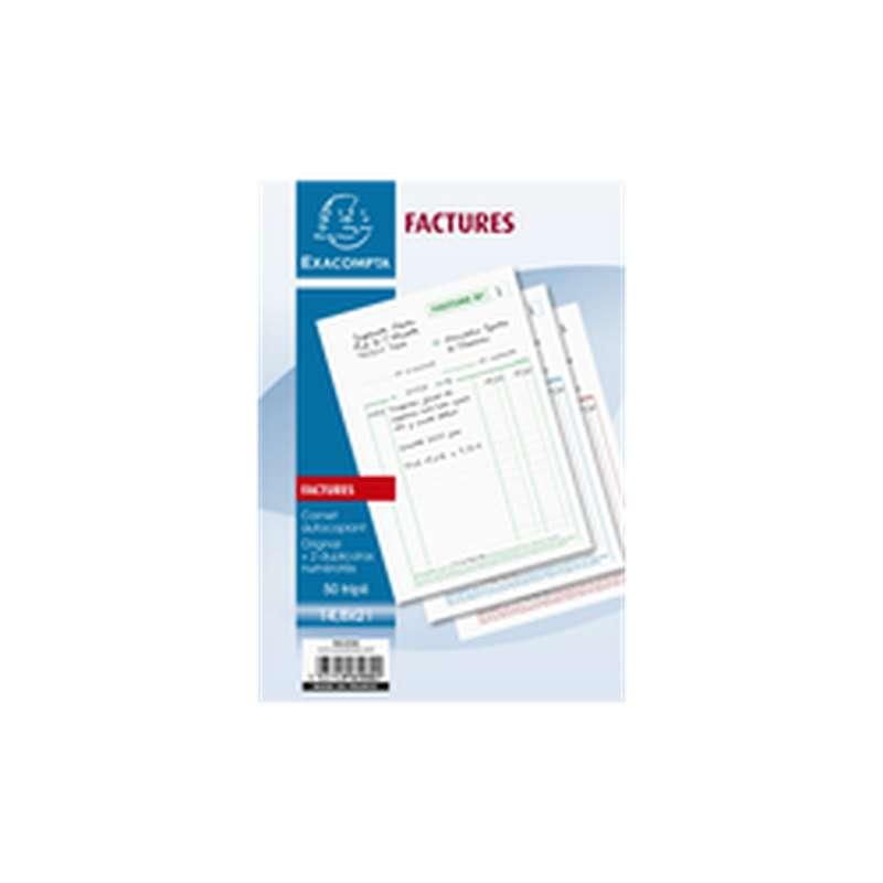 Factures en papier, ExtraCompta (x 50)