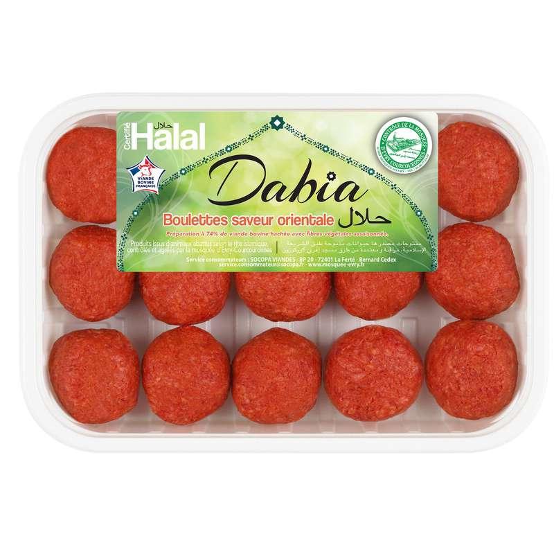 Boulette kefta saveur orientale Halal, Dabia (x 15, 375 g)