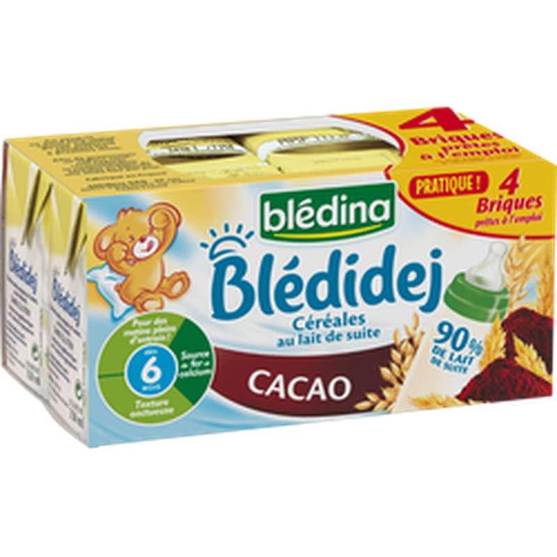 Blédidej cacao - dès 6 mois, Blédina (4 x 25 cl)