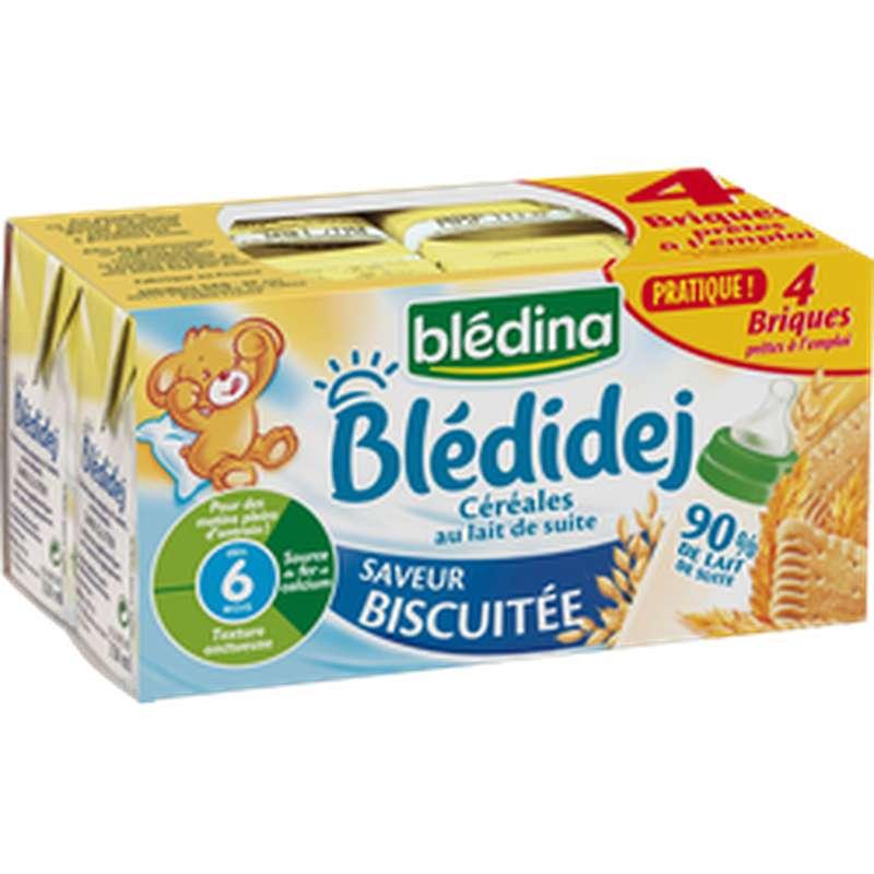 Blédidej saveur biscuité - dès 6 mois, Blédina (4 x 25 cl)