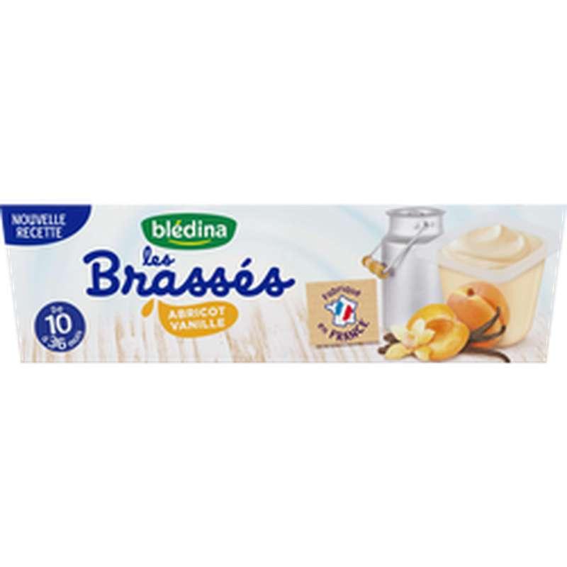Les brassés abricot vanille - dès 10 mois, Blédina (6 x 95 g)