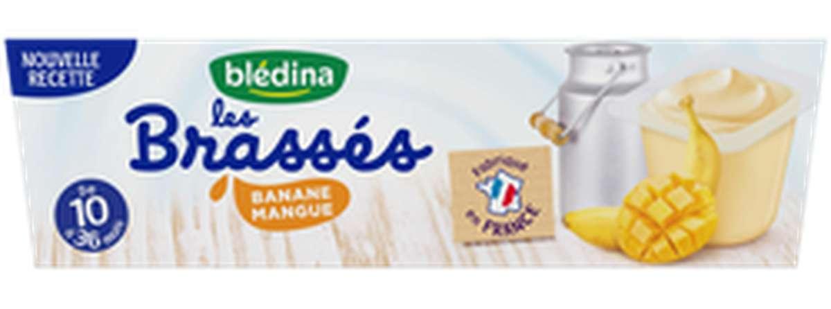 Les Brassés banane mangue - dès 10 mois, Bledina (6 x 95 g)