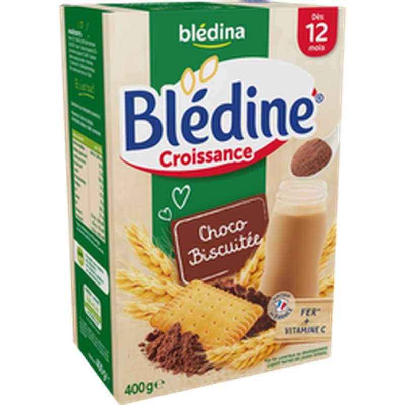 Lait de croissance Blédine saveur chocolat biscuit - dès 12 mois, Blédina (400 g)