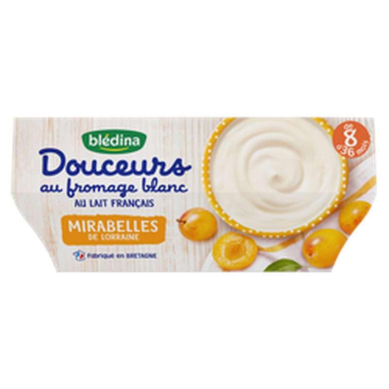 Douceurs au fromage blanc et mirabelles de Lorraine - dès 8 mois, Blédina (4 x 100 g)