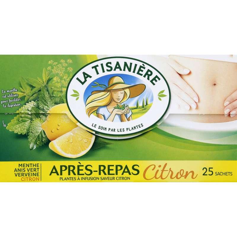 Infusion Après-repas citron, La Tisanière (25 sachets)