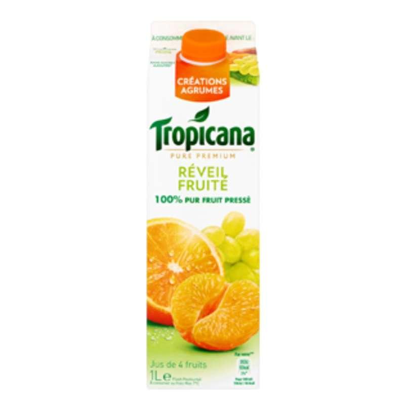 Jus réveil fruité frais orange/mandarine/raisin, Tropicana (1 L)