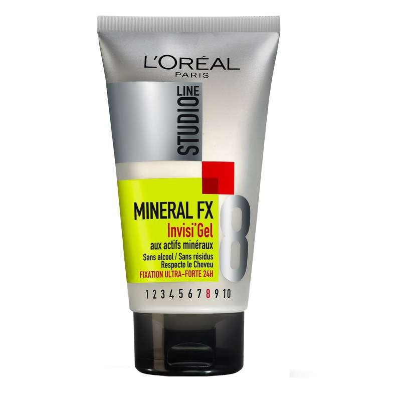 Gel Mineral FX fixation ultra forte 24 studio line, l'Oréal (150 ml)