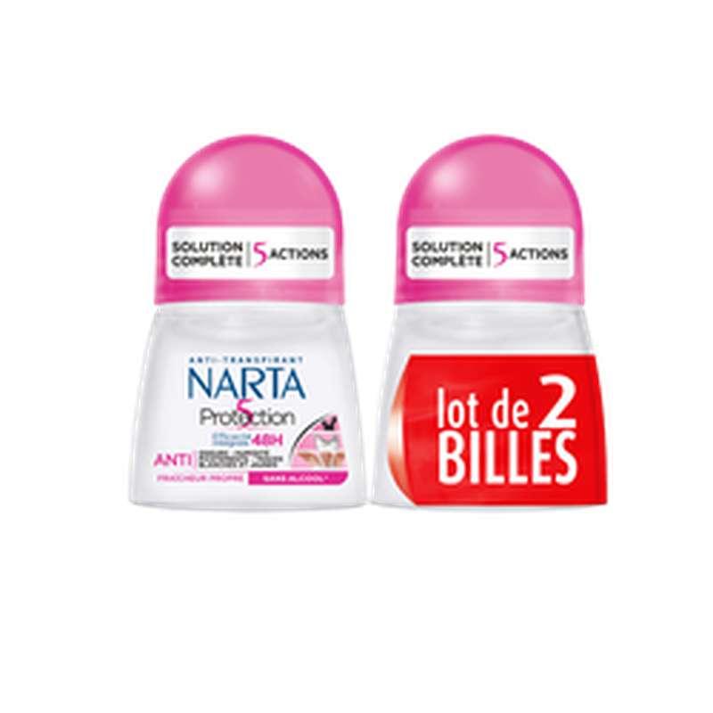 Déodorant bille Protection 5, Narta (2 x 50 ml)
