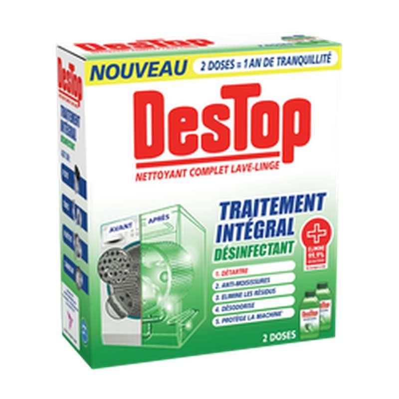 Nettoyant complet désinfectant lave-linge traitement intégral, Destop (x2)