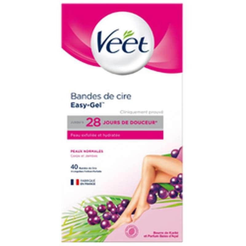 Bandes de cire froide pour peaux normales, Veet (x 40)