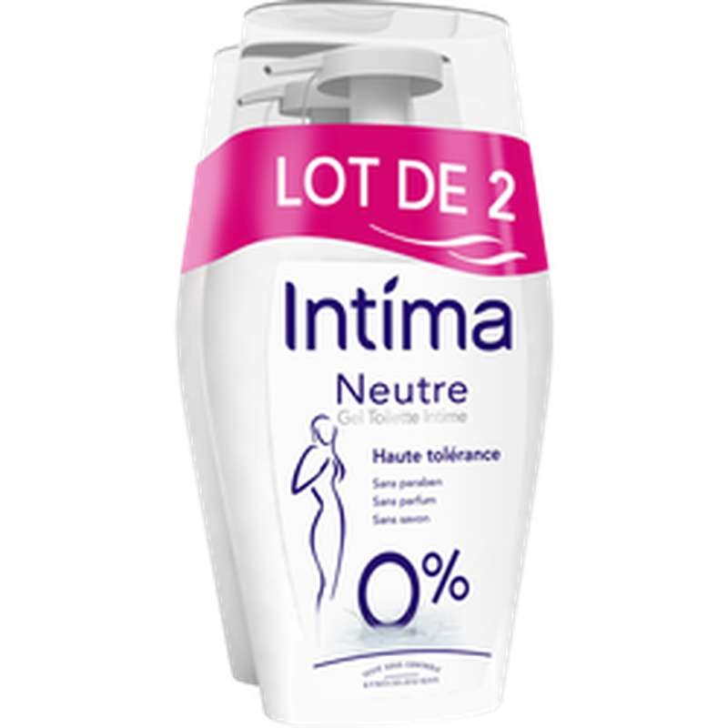Gel hygiène intime neutre, Intima LOT DE 2 (2 x 200 ml)