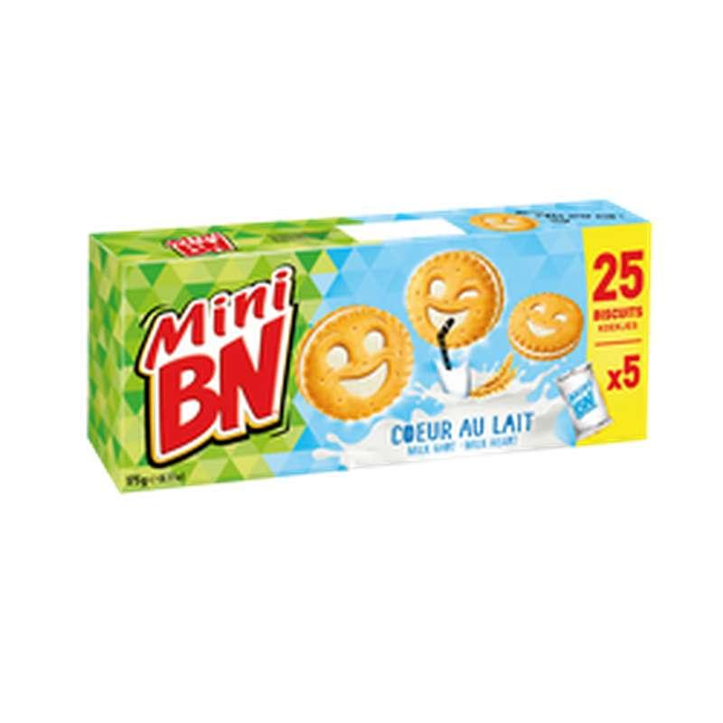 Mini biscuits fourrés Coeur De Lait, BN (x5, 175 g)