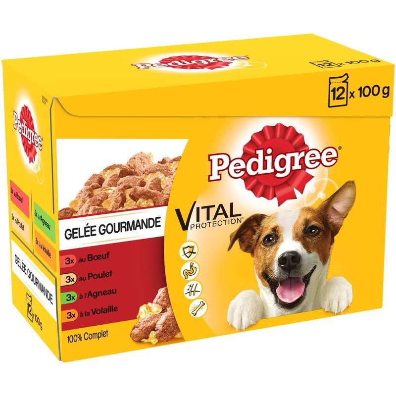 Pâtée pour chien assortiment viandes, Pedigree (12 x 100 g)
