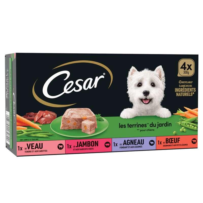 Pâtée pour chien aux légumes, César (4 x 300 g)