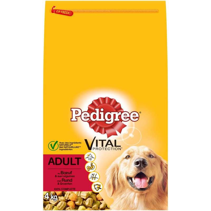 Croquettes pour chiens moyens et grands chiens au bœuf, Pedigree (4 kg)