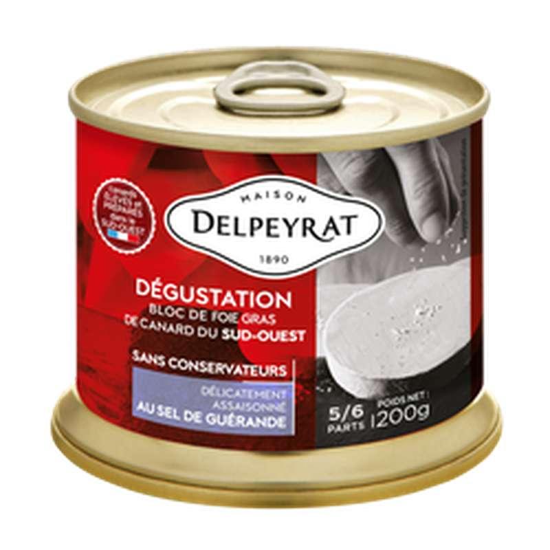 Bloc de foie gras de canard du Sud-Ouest au sel de guérande, Delpeyrat (200 g)