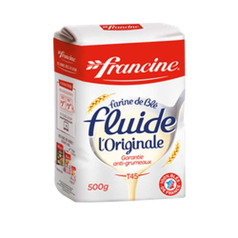Farine de blé fluide T45 / Garantie anti-grumeaux, Francine (500 g)