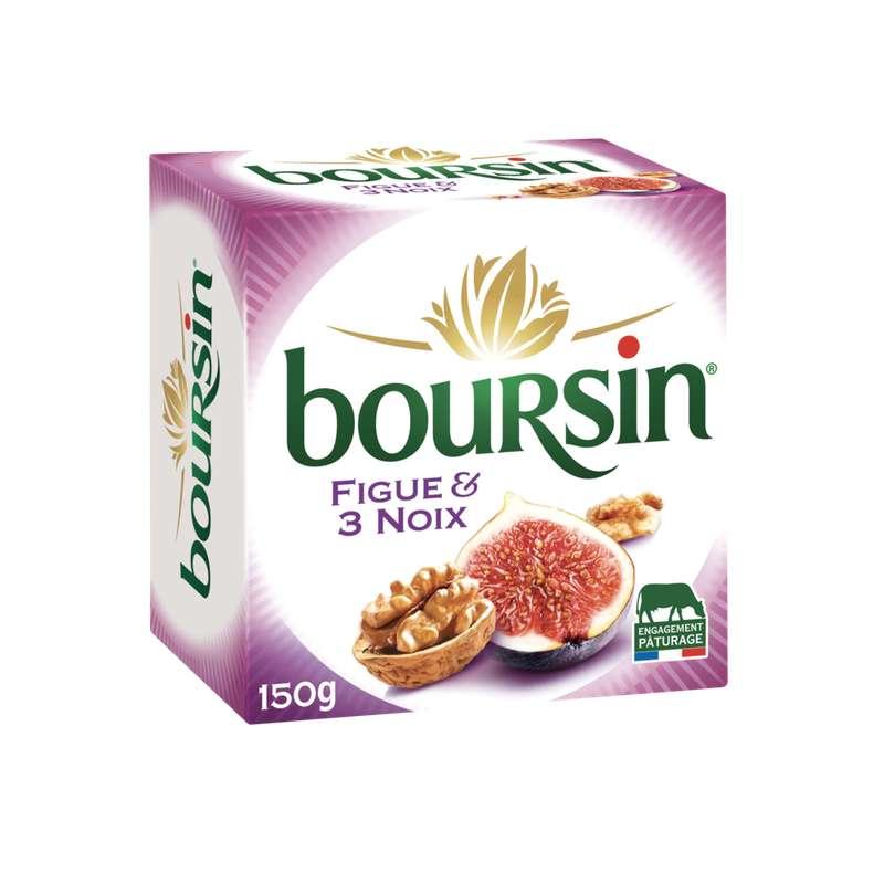 Boursin figue et aux 3 noix (150 g)